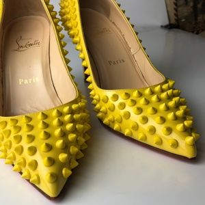 8ddd7adc365a Christian Louboutin Shoes - Christian Louboutin Pigalle 85 Spikes Pumps 37